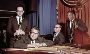 Dave Brubeck at the piano with (from left) Paul Desmond, Joe Morello and Eugene Wright, in 1959.