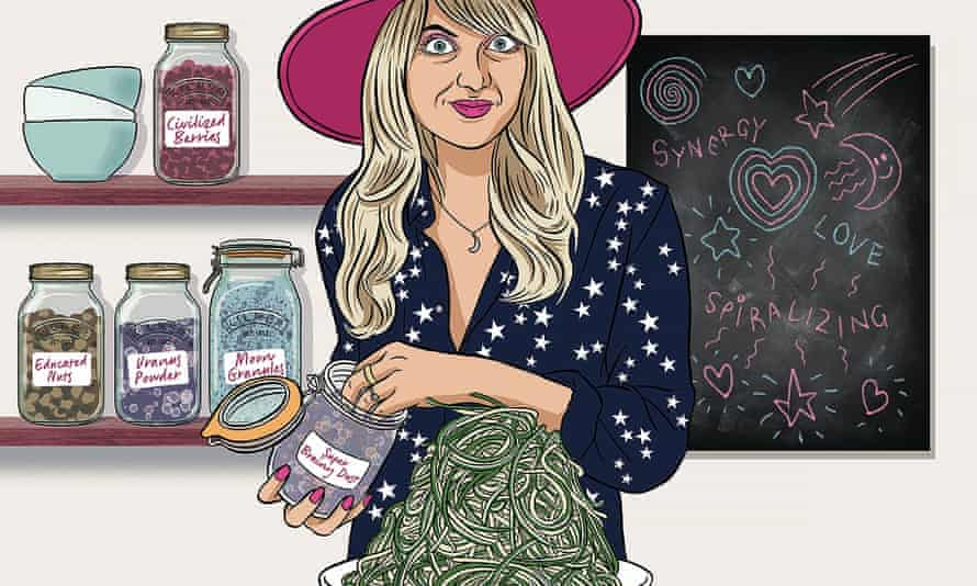 Illustration of the clean-eating blogger