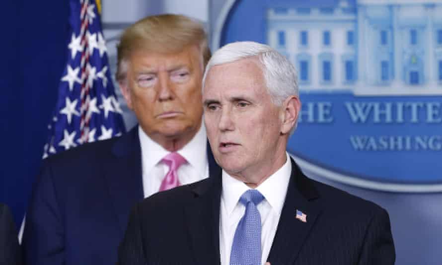 Trump and Pence address the media on the US response to coronavirus.