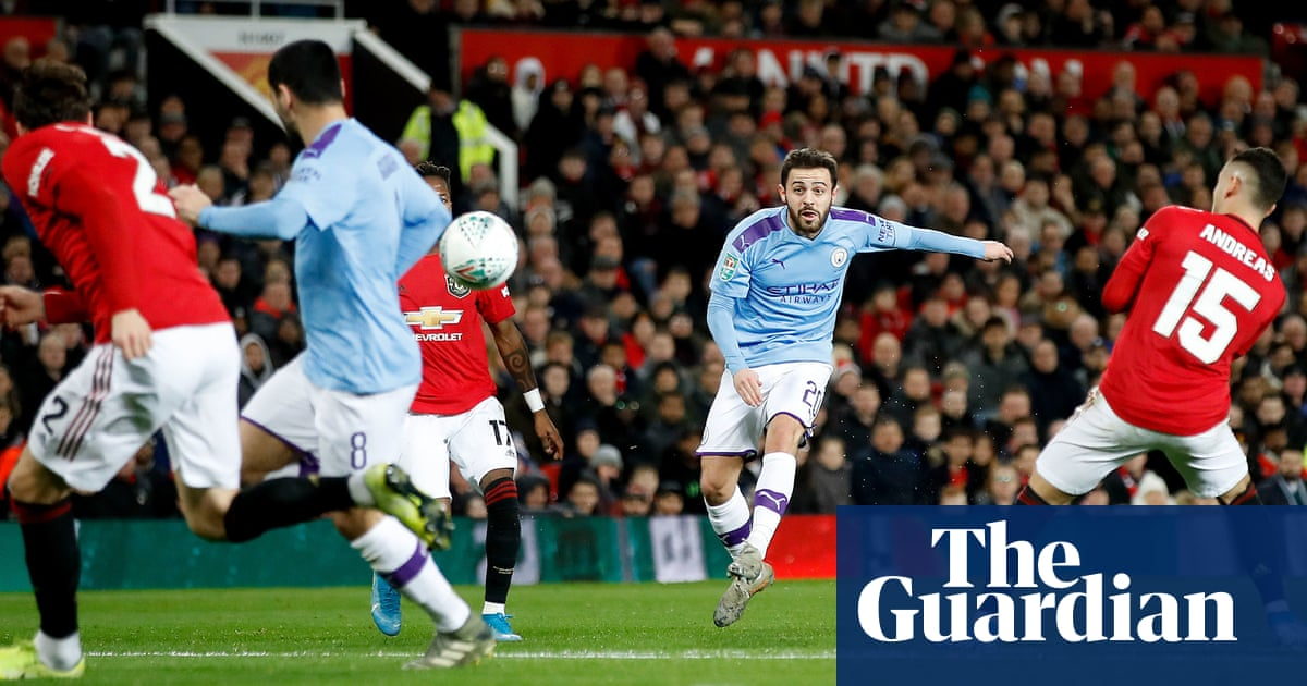 Silva Strike Helps Manchester City Beat United But The Tie Is Still Alive Football The Guardian
