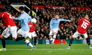 Bernardo Silva scored a sublime goal for Manchester City in their last visit to Old Trafford in the Carabao Cup semi-final first leg.