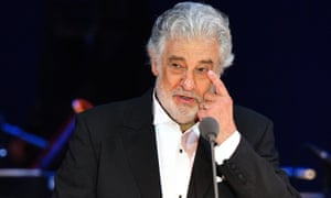 Placido Domingo performing in a concert in Hungary in August 2019.