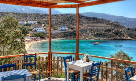 Taverna in Panagias Limani of Karpathos, Greece