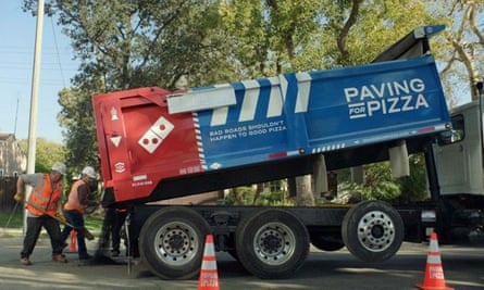 Paving the way, Domino's new asphalt van