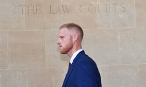 Ben Stokes outside Bristol crown court, where he is on trial accused of affray.