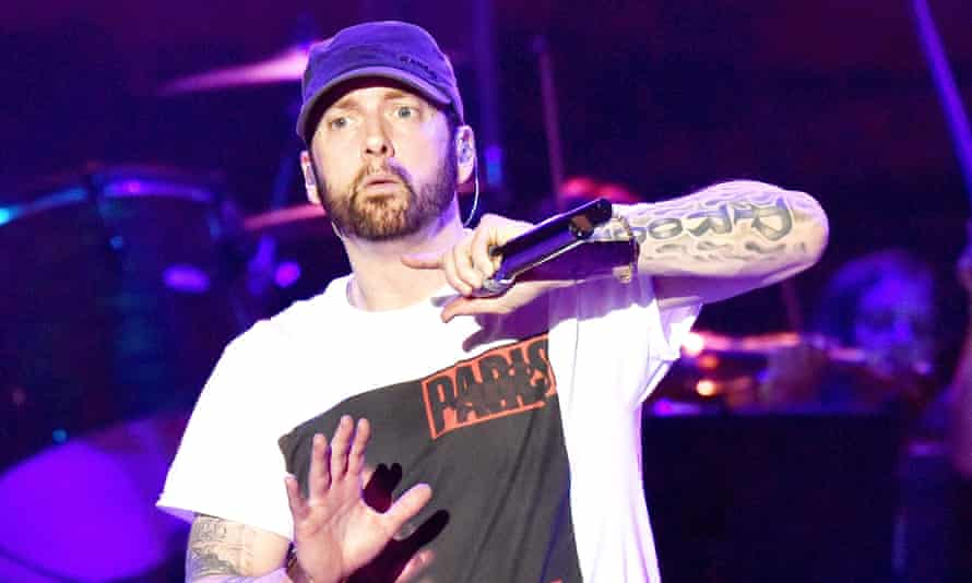 Eminem performing in June 2018.