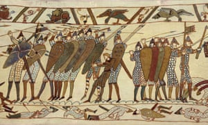 A detail from the Bayeux tapestry.