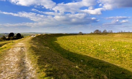View from the outer bank at Figsbury Ring.