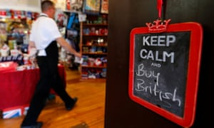 A sign saying Keep calm and buy British