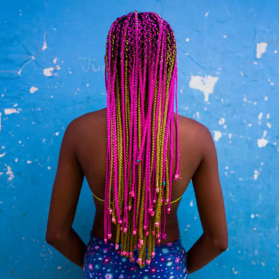 Pink and yellow braids