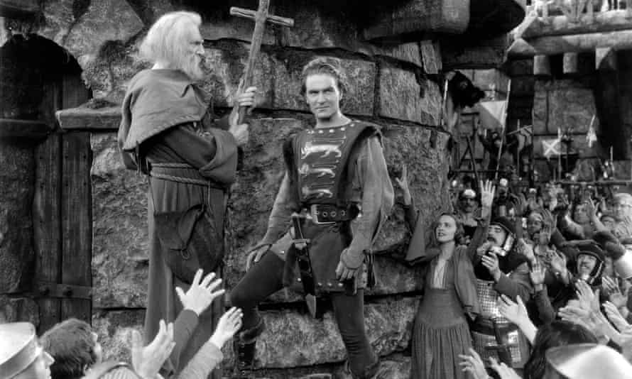 Henry Wilcoxon, right, as King Richard I in The Crusades (1935)
