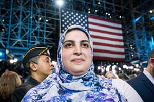 Hillary Clinton supporter Fatima Hozien, 28 , of New Jersey