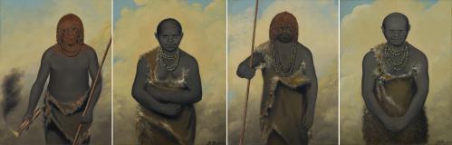 Four portraits of Indigenous Tasmanians purchased from their creator, free settler Benjamin Duterrau