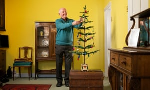 Steven Rose with his 80-year-old Christmas tree