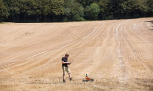 Joe Allnutt of the Small Robot Company at Meon Springs farm in Hampshire.