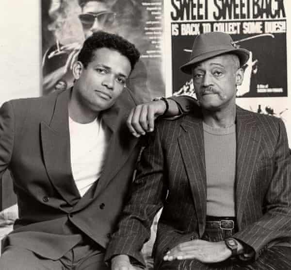 Melvin Van Peebles, right, with his son Mario, with whom he sometimes collaborated, in 1994.
