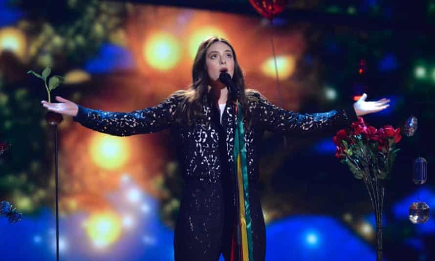 Italy's Francesca Michielin rehearses the song No Degree Of Separation