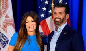 Kimberly Guilfoyle with Donald Trump Jr. She has tested positive for coronavirus.