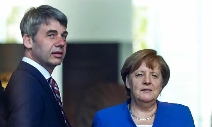 German Chancellor Angela Merkel and Jan Hecker