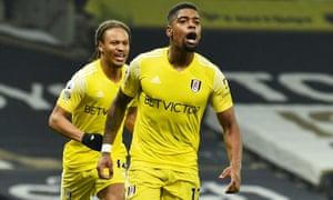 Ivan Cavaleiro of Fulham celebrates after scoring.