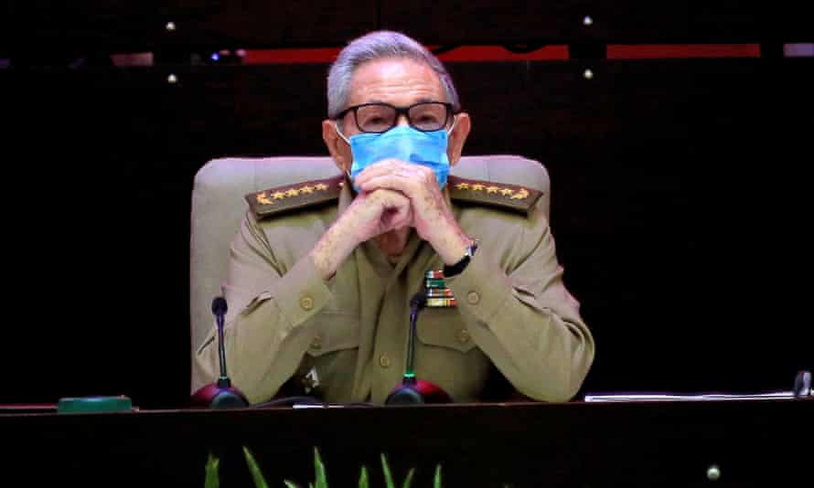 Raúl Castro attends the opening session of the eighth congress of the Cuban Communist party in Havana on 16 April.