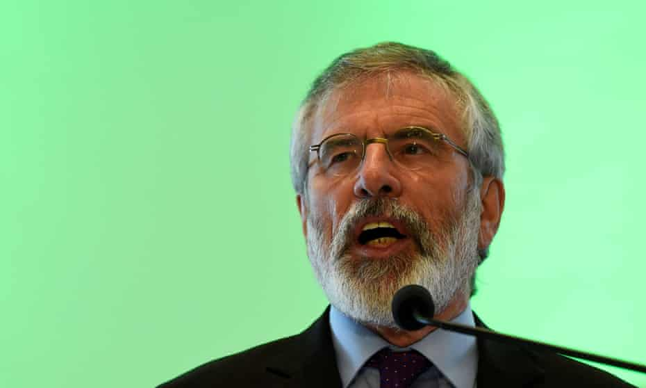 Gerry Adams outlined his intentions at an internal party conference in Gormanstown, Ireland.