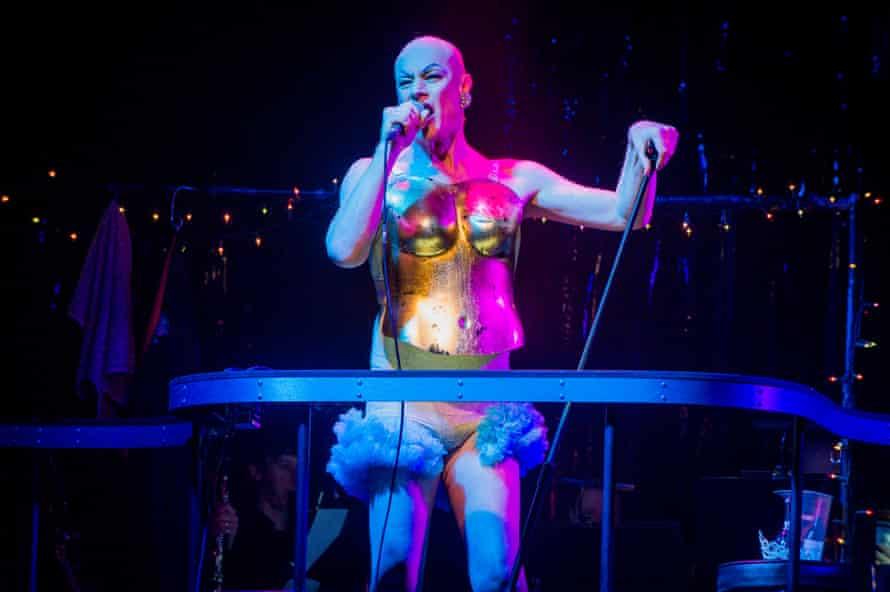 Steven Page as disco queen Anna Fewmore.