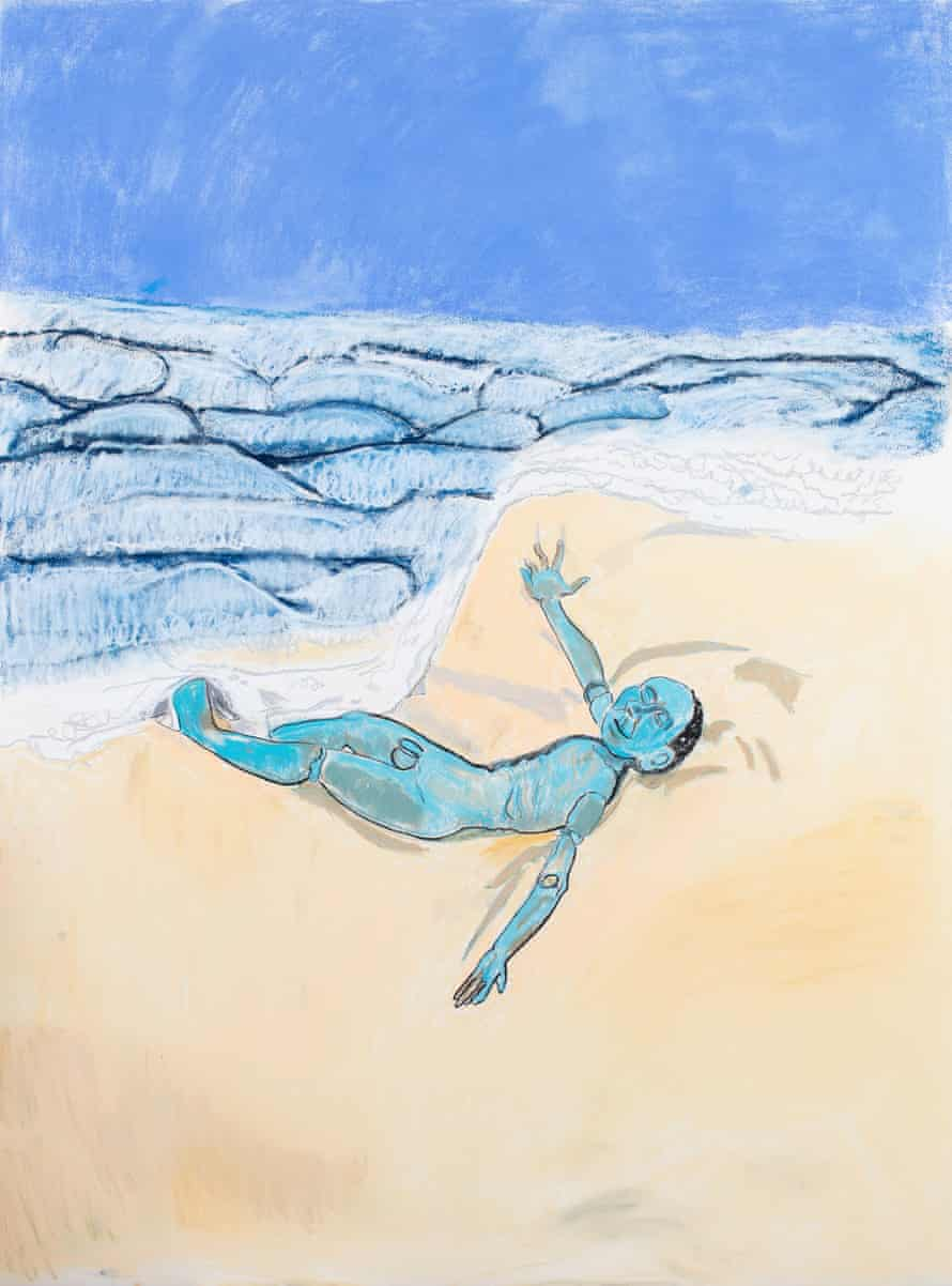 Paula Rego's The Sky was Blue the Sea was Blue and the Boy was Blue, 2017.