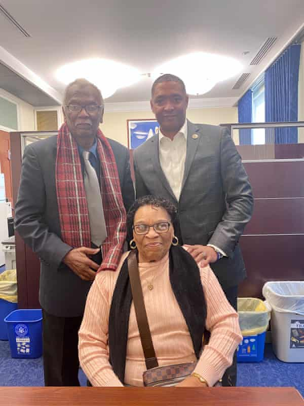 Mary Hampton, Robert Taylor and Cedric Richmond in DC.