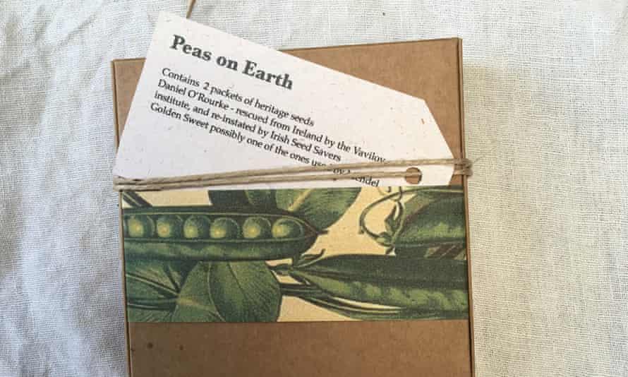 A brown envelope of seeds