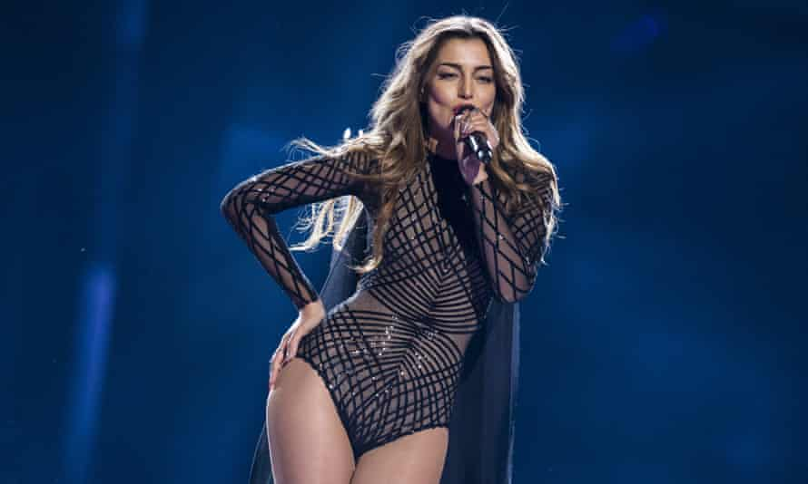Iveta Mukuchyan of Armenia, whose costume has apparently been quite problematic during rehearsals.