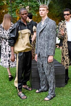 Models wearing Stella McCartney
