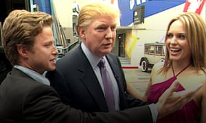Donald Trump's comments were recorded on a 'hot mic' as he talked to TV presenter Billy Bush, left, before meeting actor Arianne Zucker, right.