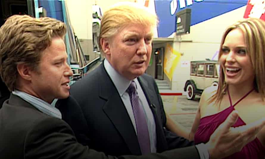 A shot from the leaked video in which Donald Trump described groping women.