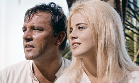 Lyon on the set of The Night of the Iguana with Richard Burton.