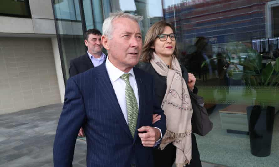 Lawyer Bernard Collaery arrives at the ACT law courts in Canberra on 6 August 2019