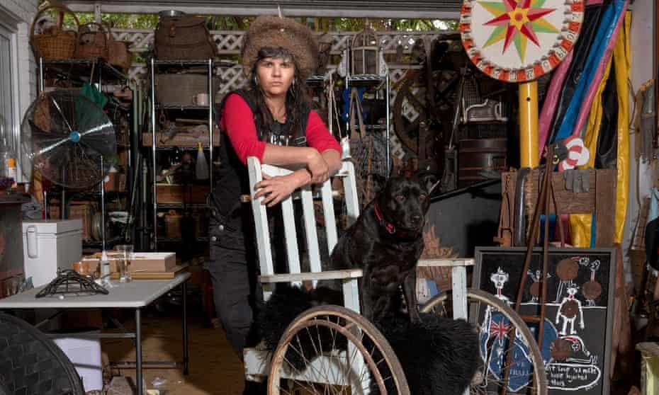 Artist Karla Dickens in her Lismore studio.