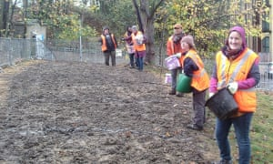 Residents of Hither Green sowing a wildflower meadow