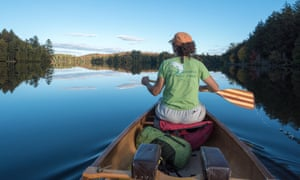 Canoeing in the St Regis Canoe Area of Adirondack State Park