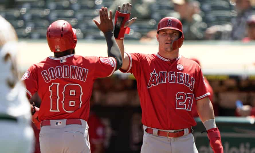 Stars such as Mike Trout (right) are set to resume action at the end of July