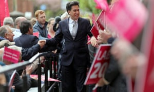 Ed Miliband on the campaign trail in Warwickshire.