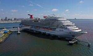 The Carnival Panorama cruise ship docked at Long Beach, California.