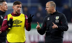Burnley assistant manager, Ian Woan, right, was last night named by the club as one of the six Premier League staff and players who have tested positive for coronavirus