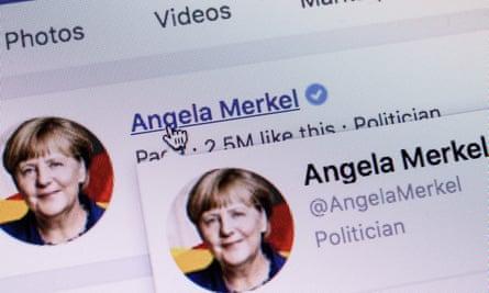 Angela Merkel's Facebook page