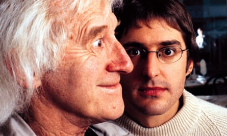 A promotional shot from Theroux's 2000 documentary When Louis Met Jimmy.