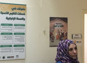 Counsellor Shiraz Nsour, in her office at the Noor Al-Hussein clinic in Amman, Jordan.