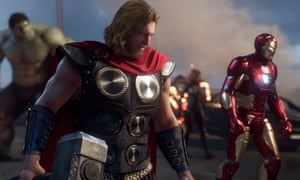A screenshot from the new Avengers video game, due out in May 2020.
