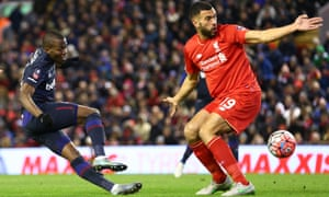 Caulker on a rare appearance on loan at Liverpool last season. 'There were positives' he said. 'I was reminded first-hand about the professionalism that it takes to reach that level.'