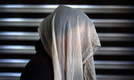 A displaced Iraqi woman from the Yazidi community