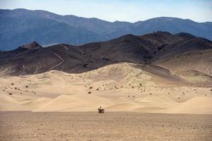 The Dumont Dunes  in the Mojave desert in California.
